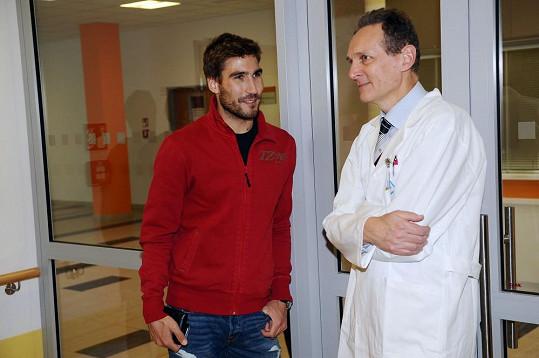David Svoboda byl podpořit charitativní projekt v nemocnici v Motole.