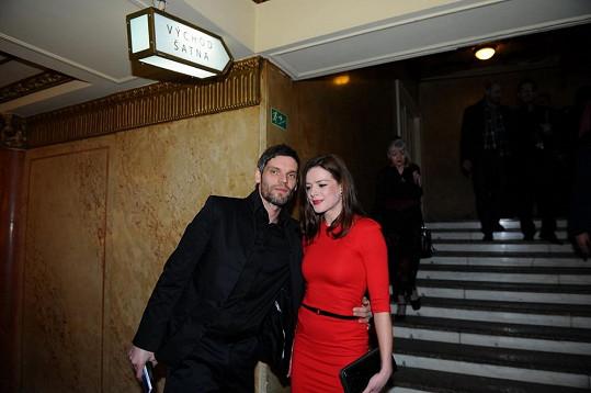 Andrea Kerestešová s přítelem.