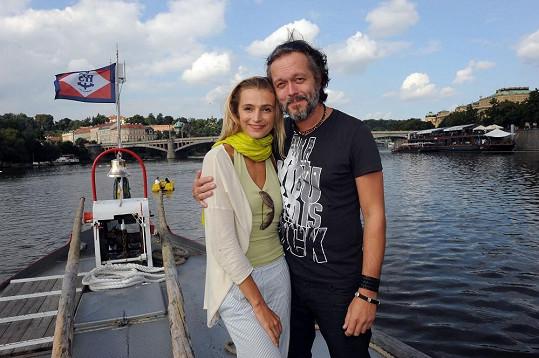 Ivana Jirešová s manželem Viktorem Dykem