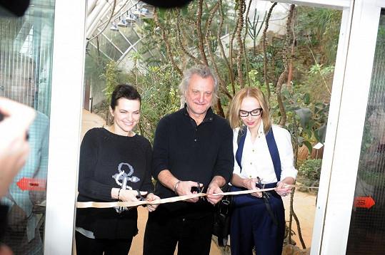Marta Jandová, Bořek Šípek a Jana Plodková se stali kmotry výstavy orchidejí.