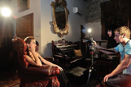 Natáčení pro kolumbijskou televizi