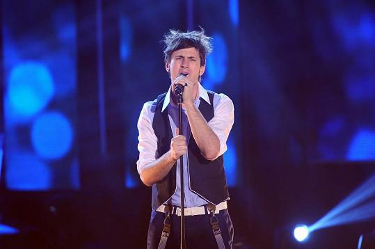 Martin Šafařík jako finalista SuperStar v roce 2013