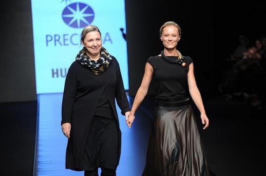 Linda s návrhářkou Hanou Havelkovou