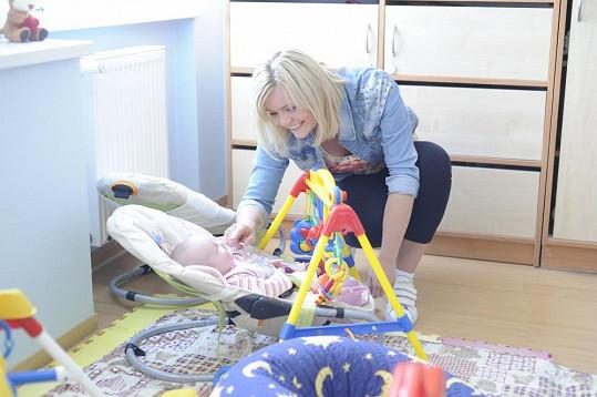 Veronika Stýblová vykouzlila úsměv na tváři malému miminku.