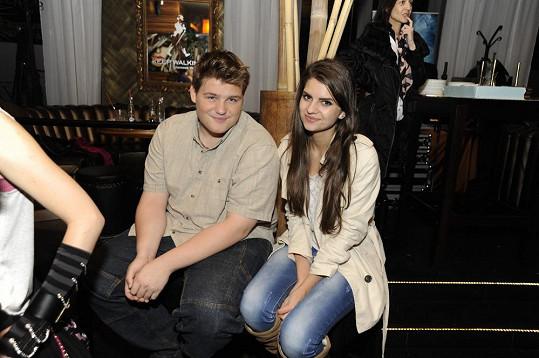 Adam Kukačka s Terezou Mandzákovou na párty SuperStar v Bratislavě.