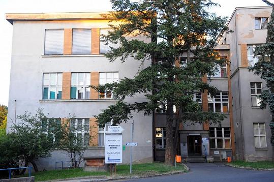Pavilon chirurgie, kde je Iveta Bartošová hospitalizovaná.