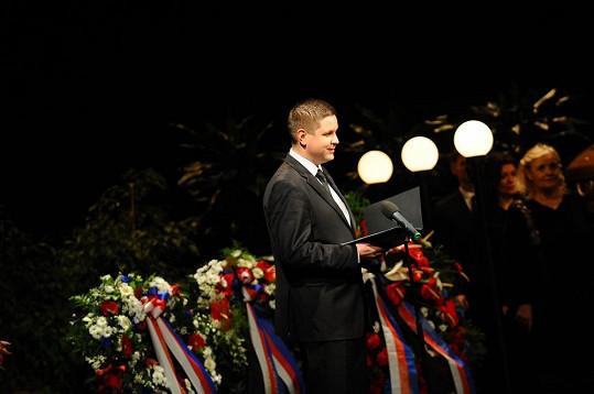 Michal Novotný měl nejvtipnější projev v duchu ironického humoru Jiráskové.