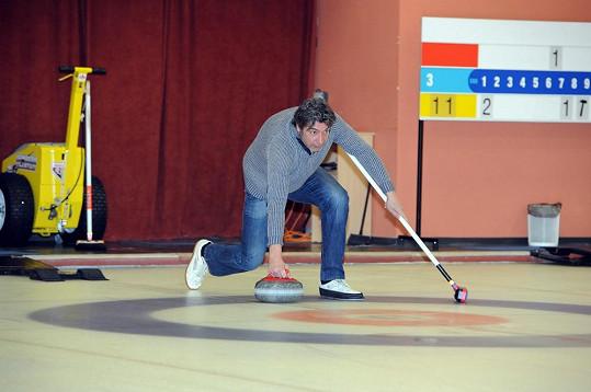Jiří Babica hubne sportem.
