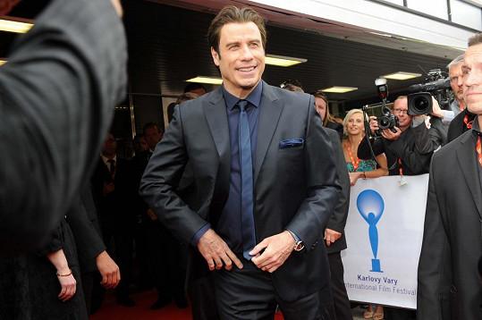 John Travolta je největší hvězdou karlovarského filmového festivalu.