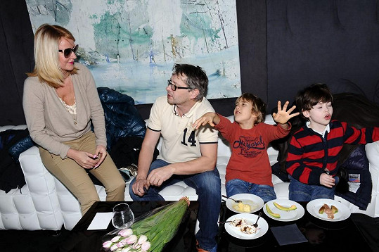 Vendula s Vladimírem, Kubou a jeho kamarádem jmenovcem.