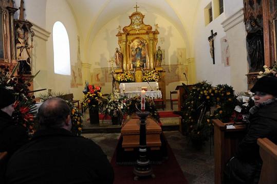 Mše v malenickém kostele sv. Jakuba.