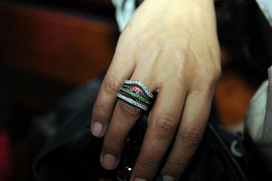 Prsten je opravdu nádherný.