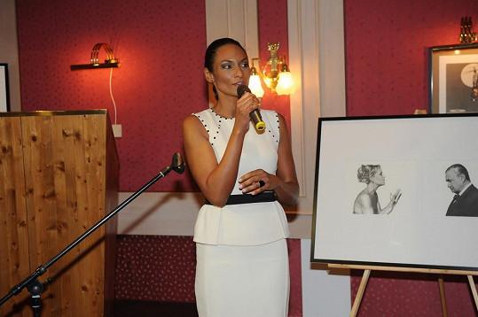 Lejla Abbasová uváděla dražbu snímků pro svůj nový projekt.