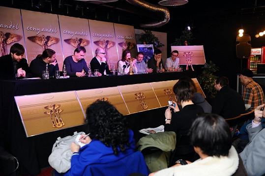 Tisková konference, kde byla představena nová vizuální podoba cen.