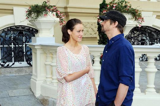 Dan Bárta s přítelkyní Alžbětou Plívovou.