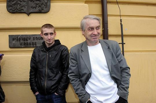 Josef Rychtář se synem Honzou, který bude poprvé otcem.