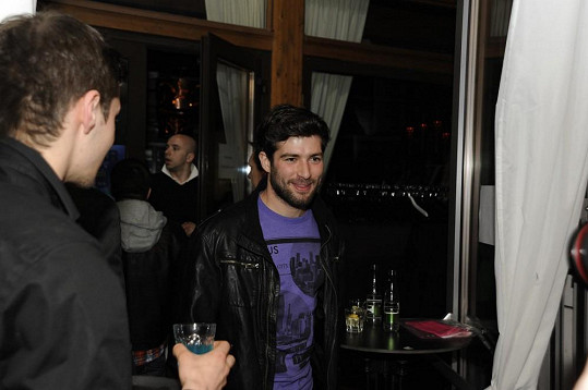 Štefan na párty Superstar v Bratislavě.