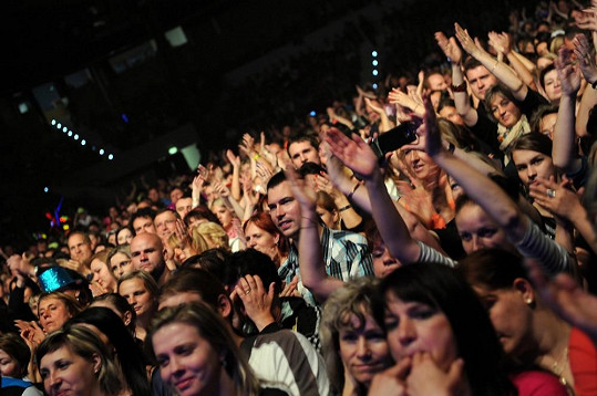 Diváci byli z koncertu dvojice u vytržení.