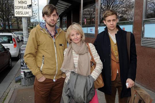 Veronika se syny Vincentem a Cyrilem