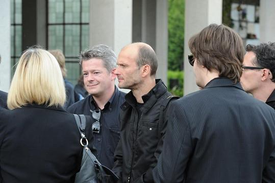 Nechyběli ani Peroutkovi kamarádi Aleš Háma a Dalibor Gondík.