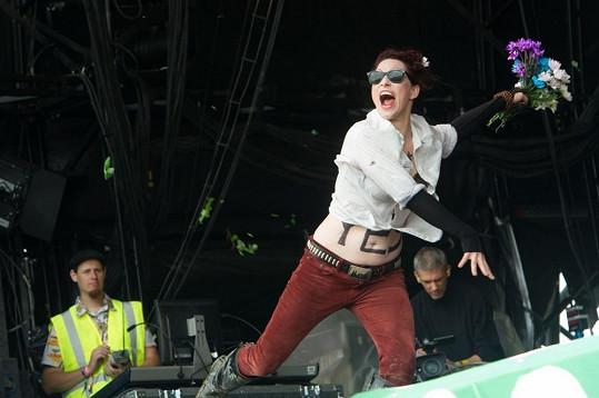 Americká umělkyně vystoupila v rámci festivalu Glastonbury.