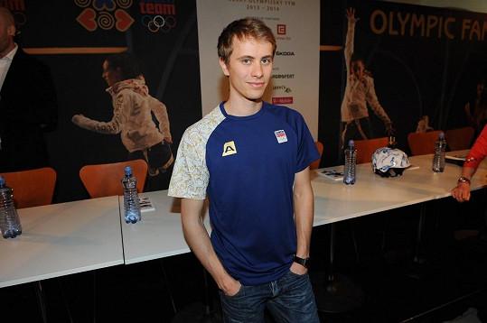 Michal Březina na olympiádě v Soči skončil na desátém místě.
