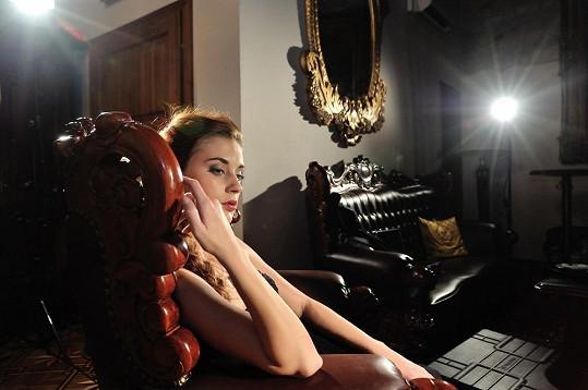 Andrea při natáčení reklamního spotu