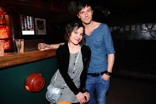 Kristýna Janáčková se svým rockerem Michalem Škrabákem.
