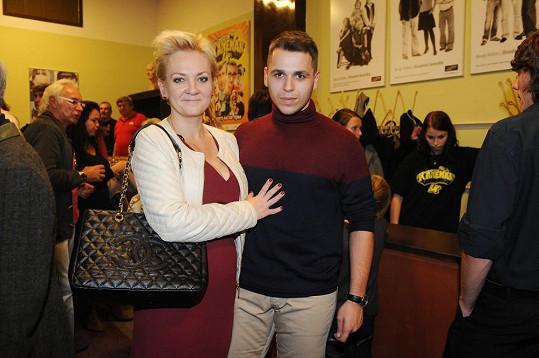 Kateřina Hamrová s přítelem.