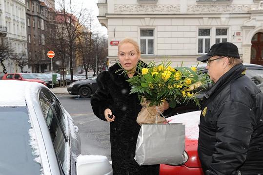 Dagmar Havlová přijela s předstihem.