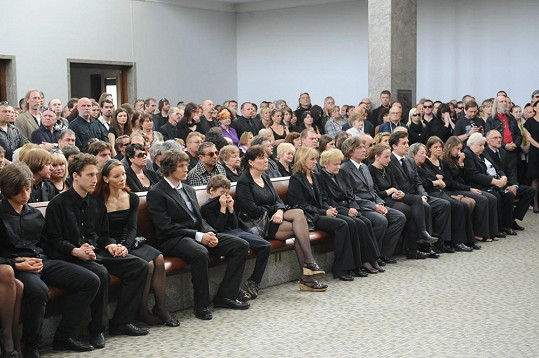 Pohřeb Milana Peroutky.