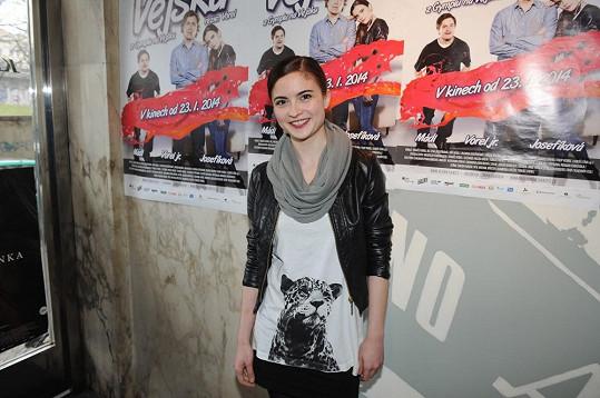 Eva Josefíková dostala ve filmu Vejška roli Julie.