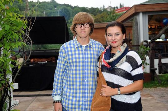 Dana Morávková se synem Péťou
