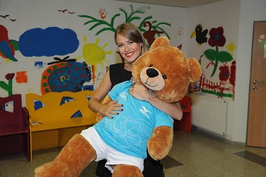 S herečkou jsme si povídali během její návštěvy dětského kardiocentra v Motole.