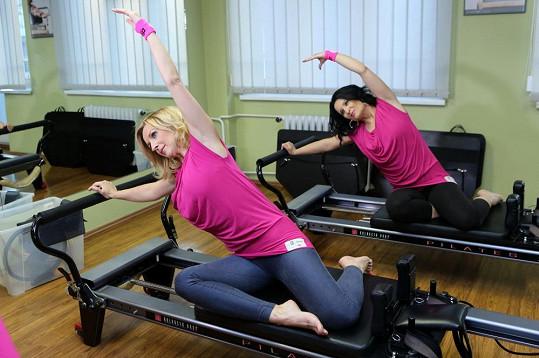 Terezie Kašparovská na hodině pilates