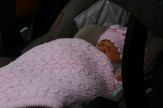 Anetka cestu domů prospala.