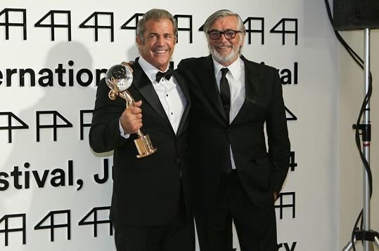 Mel Gibson s Jiřím Bartoškou