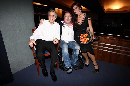 Osobní setkání s představitelkou hlavní role Kateřinou Brožovou a Josefem Laufrem.
