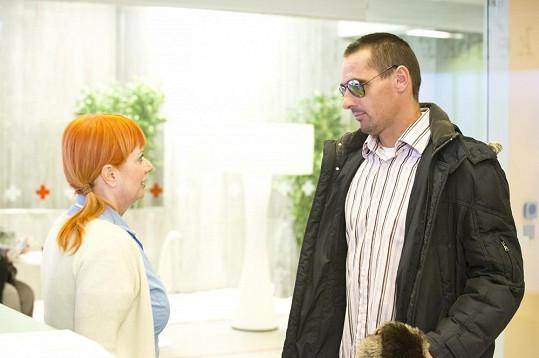 Roman Šebrle se v seriálu potkal se svou kamarádkou Bárou Štěpánovou.