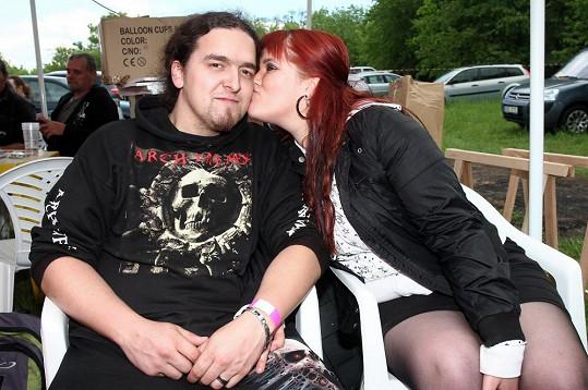 Leona Šenková s přítelem.