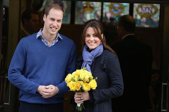 Těhotná Kate s manželem Williamem