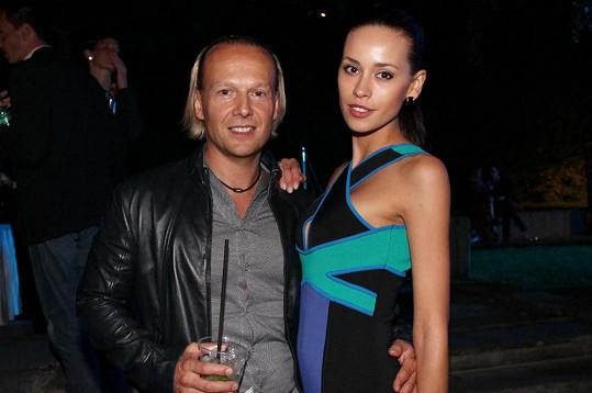 Kateřina Votavová s přítelem Jiřím Wohlmanem na párty v Karlových Varech.