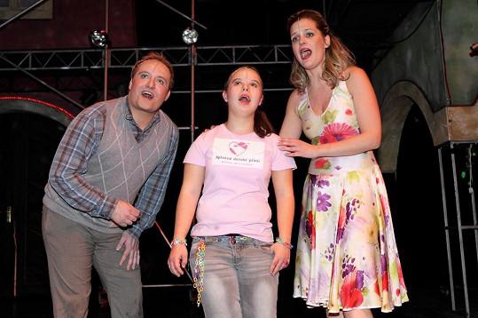 Během představení bylo splněno přání sedmnáctileté Kristýnky zazpívat si v muzikálu.
