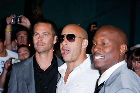 Paul Walker s kolegy z Rychle a zběsile Vinem Dieselem a Tyresem Gibsonem