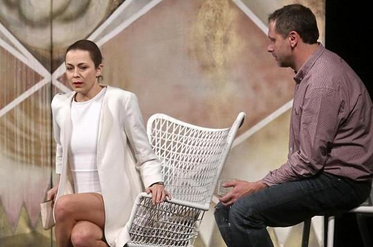 Jana Janěková mladší se svým skutečným manželem Igorem Chmelou