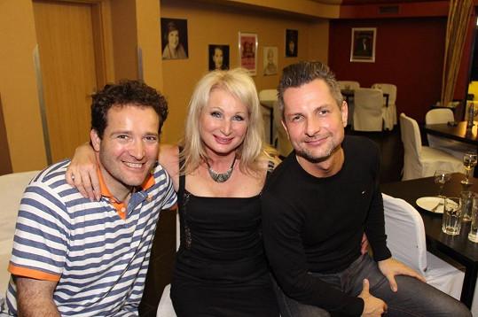 Světlana se svými hereckými parťáky Martinem Sochorem a Jurajem Bernáthem.