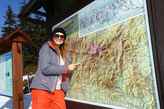 Alena Šeredová si užila lyžovačku v Krkonoších, kde to zbožňuje od malička.