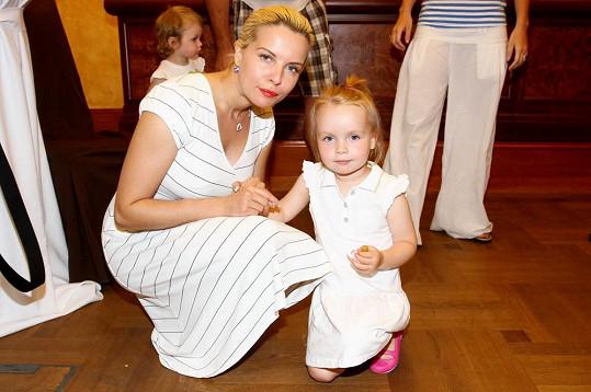 Kateřina Kristelová s dcerou Claudií.