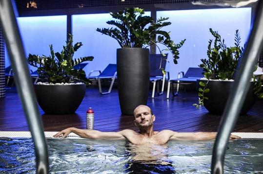 Relax ve wellness zóně po náročném tréninku