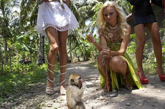 Tereza Fajksová se sblížila s opičkou...